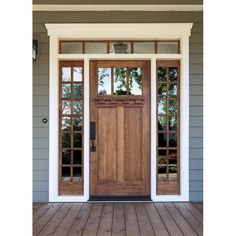 Exterior paint colors for house with porch curb appeal Ideas for 2019 Exterior Doors With Glass, Exterior Front Doors, Front Entry, Entry Doors, Wood Doors, Patio Doors, Glass Doors, Barn Doors, Sliding Doors
