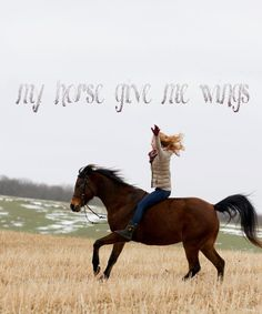 I am never more free than when I am on a horse.