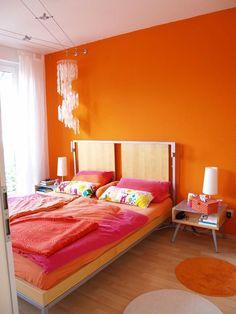 bedroom analogous color scheme ideas red orange