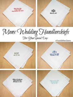 Groomsmen these handkerchiefs are also ideal for monogramming and