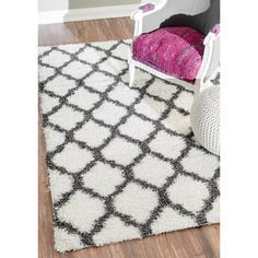 nuLOOM Alexa My Soft and Plush Modern Trellis Shag Rug (5'3 x 7'6) - Overstock™ Shopping - Great Deals on Nuloom 5x8 - 6x9 Rugs