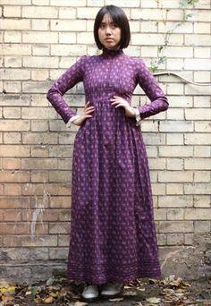 70s Laura Ashley Victorian Style Maxi Dress
