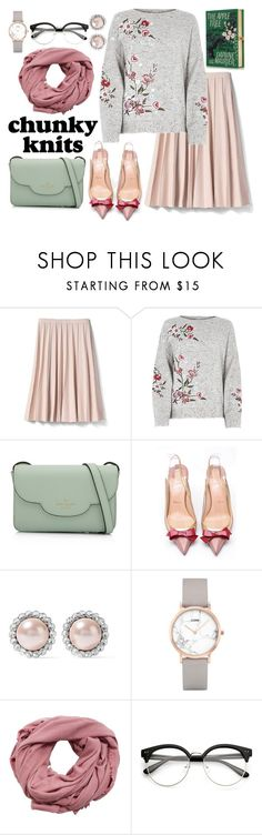 """Brisk autumn sun"" by nikkisto ❤ liked on Polyvore featuring Banana Republic, Kate Spade, Christian Louboutin, Miu Miu, CLUSE, MANGO and Olympia Le-Tan"
