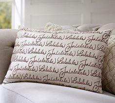 Fa La La La Pillow Cover