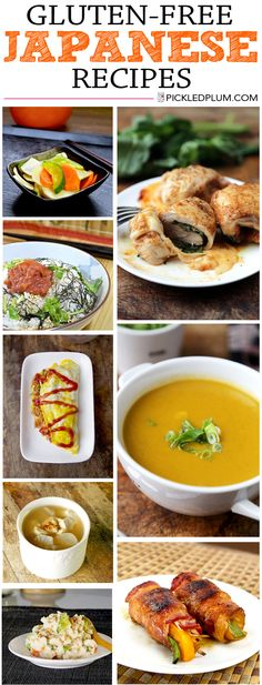 Japanese Gluten-Free Recipes - Easy and Healthy! Surprise your gluten-free guests (or family) with these yummy Japanese recipes! http://www.pickledplum.com/recipes/gluten-free-recipes/