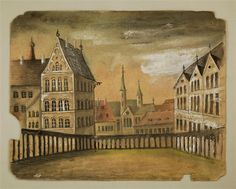 Hintergrund: Stadt / Saal (Feenpalast?)