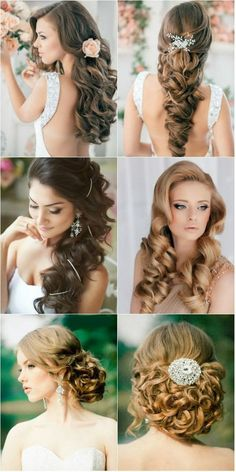 I think these are all gorgeous wedding hair styles! especially if you have long hair: