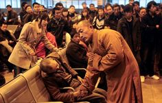 Monk prays for dead man - responding to death with compassion and love