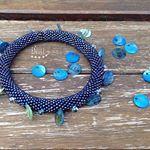 Perleťový/pearly...#naramek#bracelet#crochetjewelry#pearls#hackovani#modra#blue#glassbeads#koralky#mypassion#love#handmade#jewelrymaking#rocaille#jewelryart#beadart
