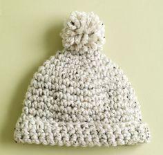 Natural Comfort Hat free crochet pattern for Lion Brand Yarn.
