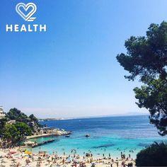 Greeting from beautiful Palma De Mallorca  Hope you are having a wonderful Friday everybody! #palmademallorca #spain #summer #sea #beach #summervibes #bluesea #vacation #sun #travel #traveltheworld #travelgram #yogagirlaroundtheworld #cruise #costacruises