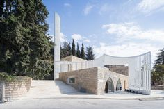 Completed in 2016 in Moukhtara, Lebanon. Images by Ieva Saudargaite, Iwan Baan. This small mosque of 100m2 included a renovation of an existing masonry cross-vaulted space and the addition of a minaret, grafted onto the existing...