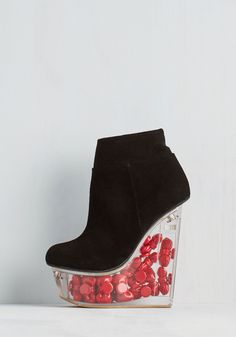 Window to Your Wonder Wedge. Your inspiring individuality is clear to see in these black wedges from Jeffrey Campbell! #black #modcloth
