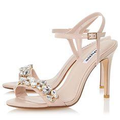 Buy Dune Mya Jewel Embellished High Heel Sandals Online at johnlewis.com