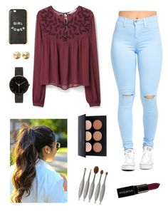 """Untitled #251"" by laurenrutledge5 on Polyvore featuring MANGO, Smashbox, Artis, Eddie Borgo, I Love Ugly, women's clothing, women, female, woman and misses"