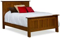 Amish Freemont Mission Panel Bed Indiana Bedroom Collection This Mission bed has a modern, contemporary feel that beautifully complements the classic Arts and Crafts style. The Freemon Amish Furniture, Furniture Direct, Solid Wood Furniture, Cheap Furniture, Furniture Making, Bedroom Furniture, Bedroom Sets, Home Bedroom, Master Bedroom