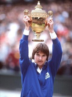 Jimmy Connors winning Wimbledon for the 2nd time, 1982