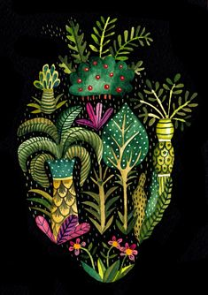 Juxtapoz Magazine - Things that Fit inside a Heart Heart Illustration, Landscape Illustration, Patchwork Heart, Medical Art, Anatomical Heart, Heart Images, Anatomy Art, Sacred Heart, Illustrations