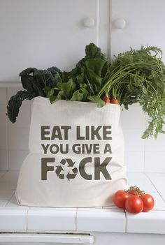 Image of EAT LIKE YOU GIVE A F*CK Tote bag