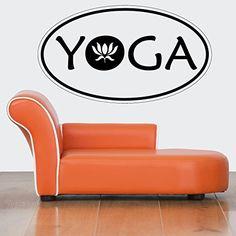 Wall Vinyl Sticker Decals Mural Room Design Pattern Yoga Logo Lotus Hindu bo458