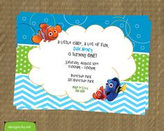 Printable Finding Nemo Birthday Invitation Nemo by DesignsByMir