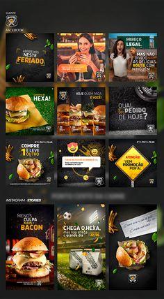 Social Media 2018 on Behance Social Media Art, Social Media Poster, Social Media Banner, Social Media Design, Social Media Graphics, Social Media Marketing, Food Graphic Design, Food Menu Design, Food Poster Design