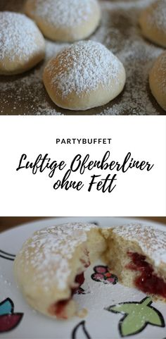 Loose oven Berliners - not just for carnival - Backen - Dessert Easy Cake Recipes, Candy Recipes, Dessert Recipes, German Desserts, Chocolate Desserts, My Favorite Food, Favorite Recipes, Small Desserts, Party Finger Foods