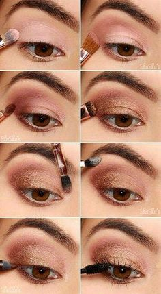 Eyeshadow, Eye Makeup Inspiration, Augen Make-Up Tried And Tested Skin Care Tips Homecoming Makeup, Homecoming Dance, Eye Makeup Steps, Easy Eye Makeup, Bronze Eye Makeup, Pinterest Makeup, Makeup Hacks, Makeup Ideas, Photo Makeup