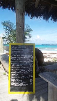 Menu with a view? Only at Tippy's Bar & Grill in Eleuthera, Bahamas