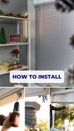 Here's how easy it is to install Vinyl Mini Blinds. The most popular blinds in America.