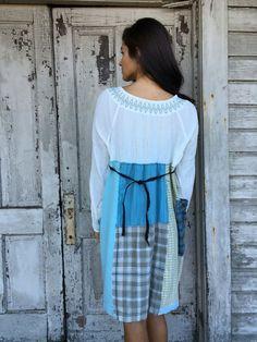 Isabella dress-large xlarge-artsy-Eco Clothing-Upcycled