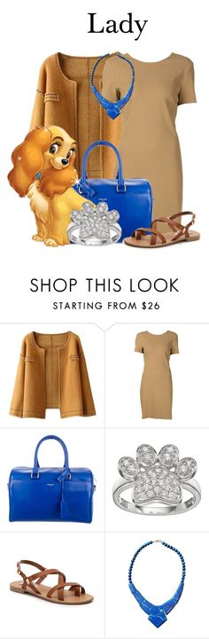 """Lady"" by megan-vanwinkle ❤ liked on Polyvore featuring Yves Saint Laurent and Steve Madden"