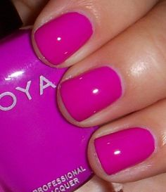 """zoya """"charisma"""" (curiouser and curiouser) Purple Nail Polish, Zoya Nail Polish, Purple Nails, Nail Polish Colors, Gorgeous Nails, Love Nails, How To Do Nails, Pretty Nails, Fabulous Nails"""