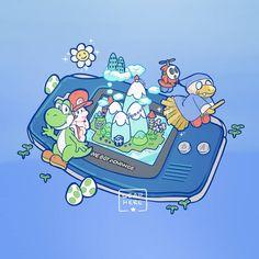 Nintendo > Mario > Yoshi's Island game > Gameboy Advance art design | leaphere Pac Man, Systems Art, Yoshi, Creation Art, Retro Videos, Games For Teens, Video Game Art, Game Design, Art Day