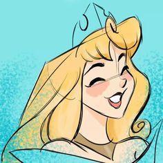 Aurora Walt Disney, Disney Princess Aurora, Disney Girls, Disney Love, Disney Magic, Princess Bubblegum, Disney Sketches, Disney Drawings, Princesa Ariel Disney