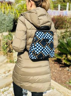 Geometric Graphic, Make A Gift, Printed Bags, Black Backpack, Vera Bradley Backpack, Hobo Bag, Ankara, Gifts For Her, Winter Jackets