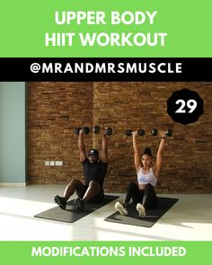 Hiit Arm Exercise With Weights Way To Tone Flabby Arms , hiit arm-übung mit gewichten weise, schlaffe arme zu tonen Hiit Arm Exercise With Weights Way To Tone Flabby Arms , fitness Food; fitness For Beginners; Upper Body Hiit Workouts, Full Body Hiit Workout, Gym Workout Videos, Body Workout At Home, Fitness Workout For Women, Body Fitness, Gym Workouts, At Home Workouts, Shape Fitness