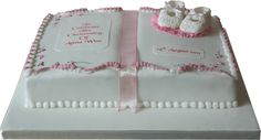 book shaped sheet cakes   To order this christening cake please use the form below (You can ...