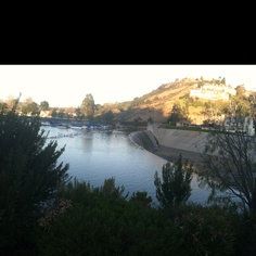The dam in Westlake Village. When I was a child I took horse back riding lesson at the stables at the dam. Condos are there now.