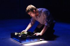 "Daniel N. Durant as the title character in ""Flowers for Algernon."" Photo by Ed Krieger."