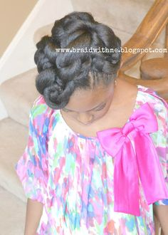 Beads, Braids and Beyond: Easter Updo for Little Girls with Natural Hair .....for little girls but us ladies can rock it too !
