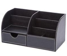 KINGFOM™ 5-slot Wood Leather Multi-function Desk St...…