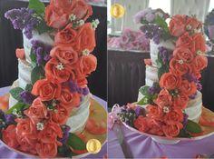 PATY'SKITCHEN: NAKED WEDDING CAKE - ROSE PEACH