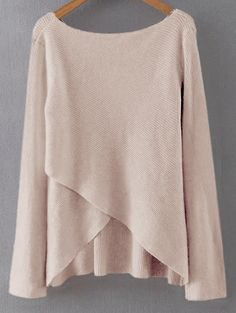 GET $50 NOW | Join Zaful: Get YOUR $50 NOW!http://m.zaful.com/irregular-hem-solid-color-crossed-sweater-p_211442.html?seid=1525461zf211442