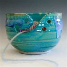 Large Yarn Bowl, knitting bowl, handmade from ocpottery on Etsy Handmade Pottery, Handmade Ceramic, Yarn Bowl, Slab Pottery, Clay Projects, Ceramic Bowls, Yarn Crafts, Crochet, Diy Gifts