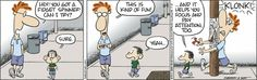 Baby Blues chronicles the adventures of the McPherson family and its three children. Created by Rick Kirkman and Jerry Scott. Funny Me, Funny Dogs, Hilarious, Funny Stuff, Cartoon Jokes, Cartoons, Baby Blues Comic, Hey You, Three Kids