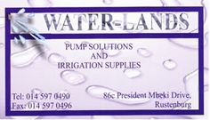 Rustenburg Pump Solutions and Irrigation Supplies Contact Details Tel: 597 0490 Fax: 597 0496 Cell 072 979 7971 (Ems) Cell