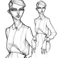 Fashion Design Drawings, Fashion Sketches, Minimal Fashion, Trendy Fashion, Milan Fashion, Fall Fashion, Fashion Illustration Face, Fashion Illustrations, Summer Drawings