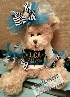 Personalized Cheer Bear Rebel Chick Designs