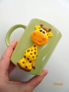 Polymer clay mug